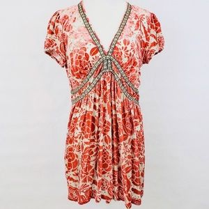 Johnny Was Silk Blend Floral Tunic Top Size XS